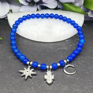 Jewelry - Star and moon charm anklet
